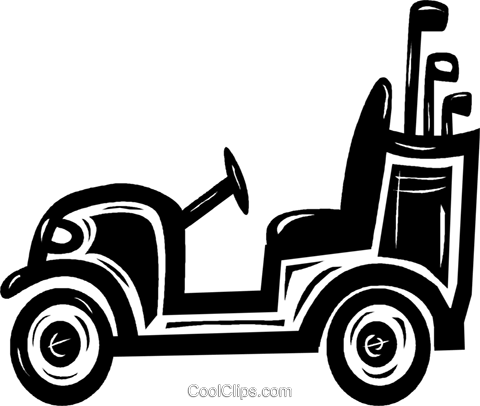 Golf cart black and white clipart free vector vector royalty free golf cart Royalty Free Vector Clip Art illustration -vc040627 ... vector royalty free