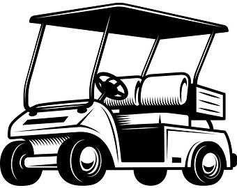 Golf cart black and white clipart free vector png transparent download Golf Cart Clipart | Free download best Golf Cart Clipart on ... png transparent download