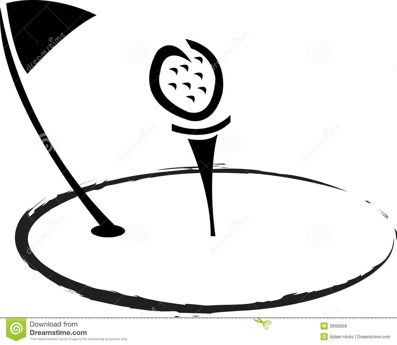 clip art clipartlook. Free black and white golf clipart
