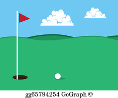 Clipart golf course free stock Golf Course Clip Art - Royalty Free - GoGraph free stock