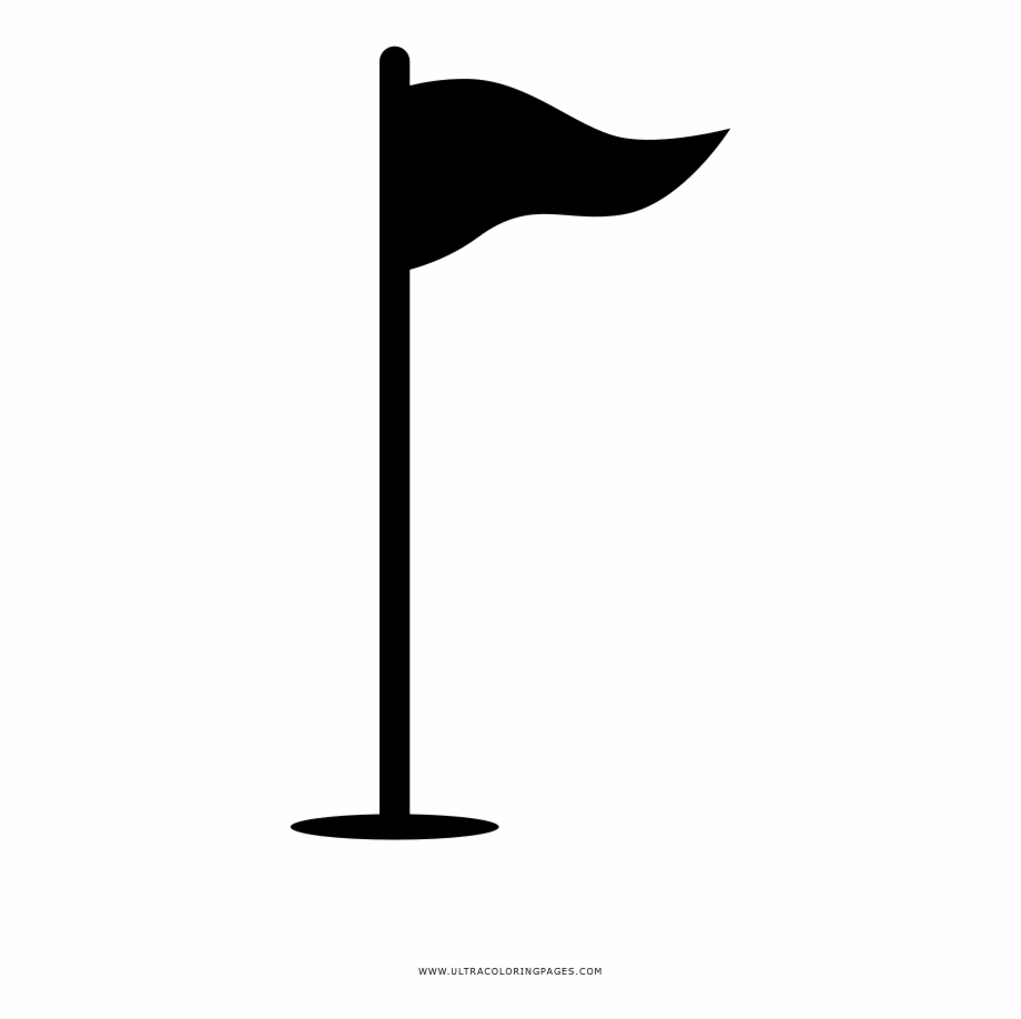 Golf flag clipart free clip art royalty free library Golf Flag Coloring Page - Silhouette Free PNG Images & Clipart ... clip art royalty free library