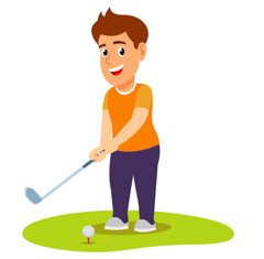 Golf man clipart clipart library download Sports Clipart - Free Golf Clipart to Download clipart library download