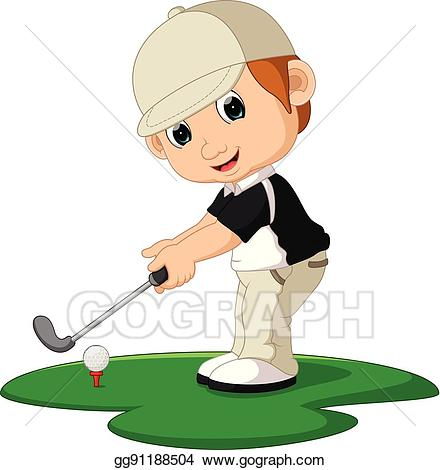Golf man clipart jpg royalty free download Vector Stock - Golfer man cartoon. Clipart Illustration gg91188504 ... jpg royalty free download