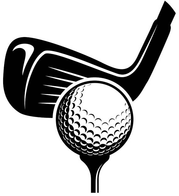 Golf Logo #6 Tournament Clubs Iron Wood Golfer Golfing Sport Course ... clip art black and white