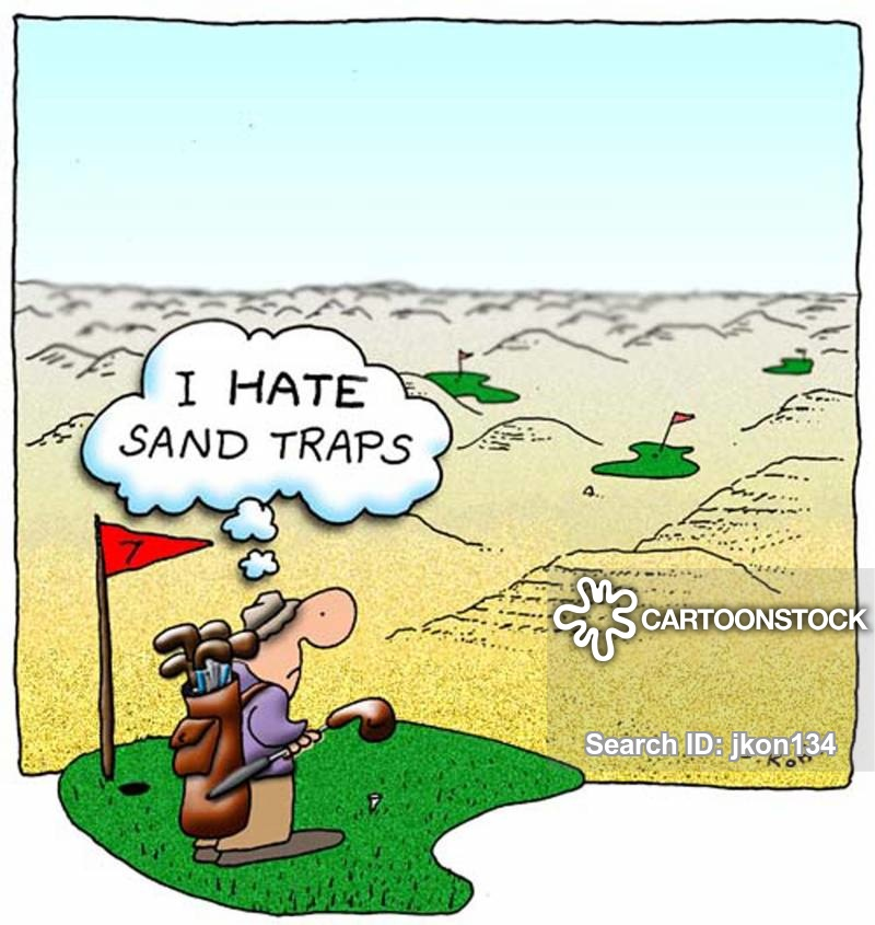 Golfer sand trap clipart royalty free download Sand Bunker Cartoons and Comics - funny pictures from CartoonStock royalty free download