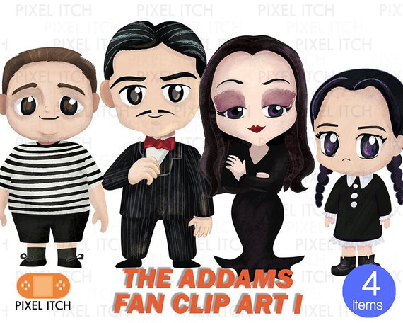 Gomez addams clipart png transparent Halloween Family Clipart -The Addams Clip Art- Wednesday Addams ... png transparent