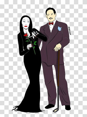 Gomez addams clipart png black and white stock Morticia Addams Cartoon Drawing The Addams Family, others ... png black and white stock