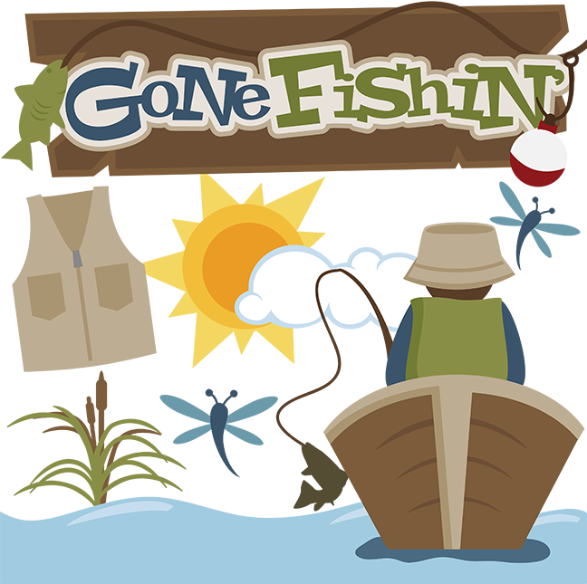 Gone fishin  clipart banner library library Gone Fishin\' SVG files for cutting machines fishing svg files for ... banner library library