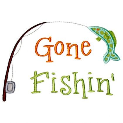Gone fishin  clipart banner freeuse stock applique-only-gone-fishin-gone-fishing-clipart-420_420 - Harry Meyering banner freeuse stock