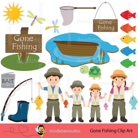 Gone fishin  clipart svg transparent library Gone Fishing Clipart svg transparent library
