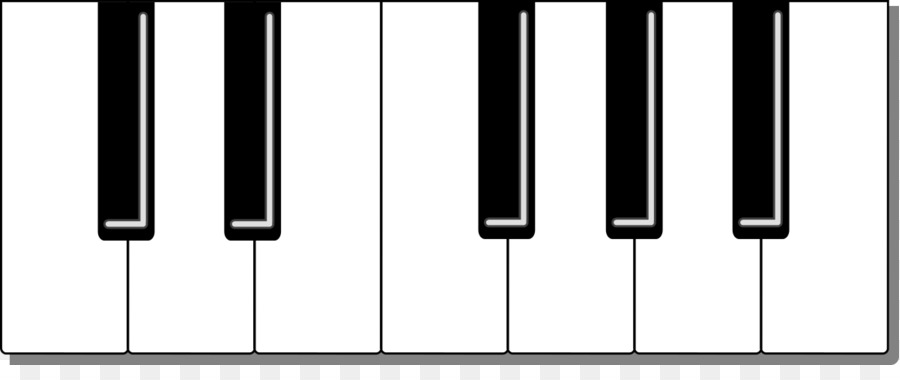 Gong keyboard clipart black and white clipart freeuse stock Musical keyboard Piano Electronic keyboard Clip art - Pictures On ... clipart freeuse stock