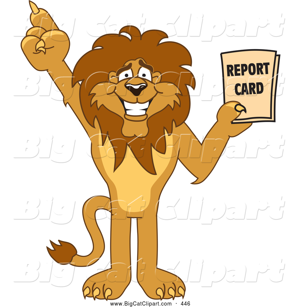 Good character clipart vector royalty free Royalty Free Report Card Stock Big Cat Designs vector royalty free