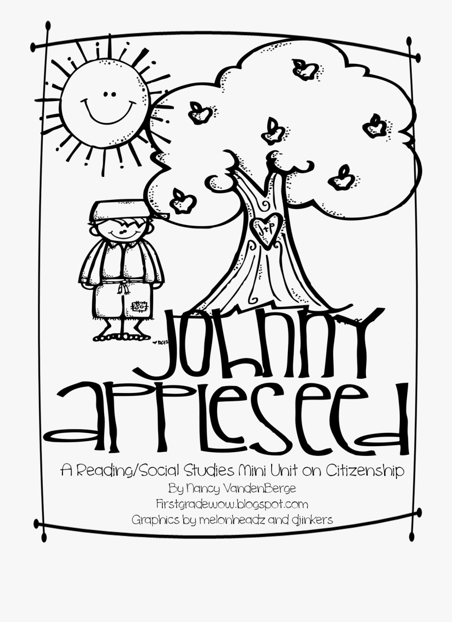 Good citizen clipart black and white graphic royalty free Johnny Appleseed = Good Citizenship - Johnny Appleseed Good Citizen ... graphic royalty free