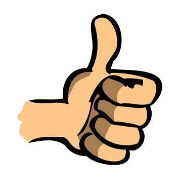 Good thumb up clipart best - Clipartable.com graphic black and white stock