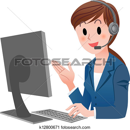 Good customer service clipart vector black and white stock Customer service agent clipart - ClipartFest vector black and white stock