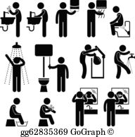 Personal hygiene items clipart black and white jpg black and white library Personal Hygiene Clip Art - Royalty Free - GoGraph jpg black and white library