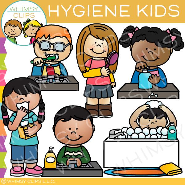 Health and hygiene clipart banner Hygiene Kids Clip Art banner