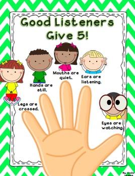 Good listener clipart svg library Good Listener Poster & Worksheets | Teachers Pay Teachers svg library