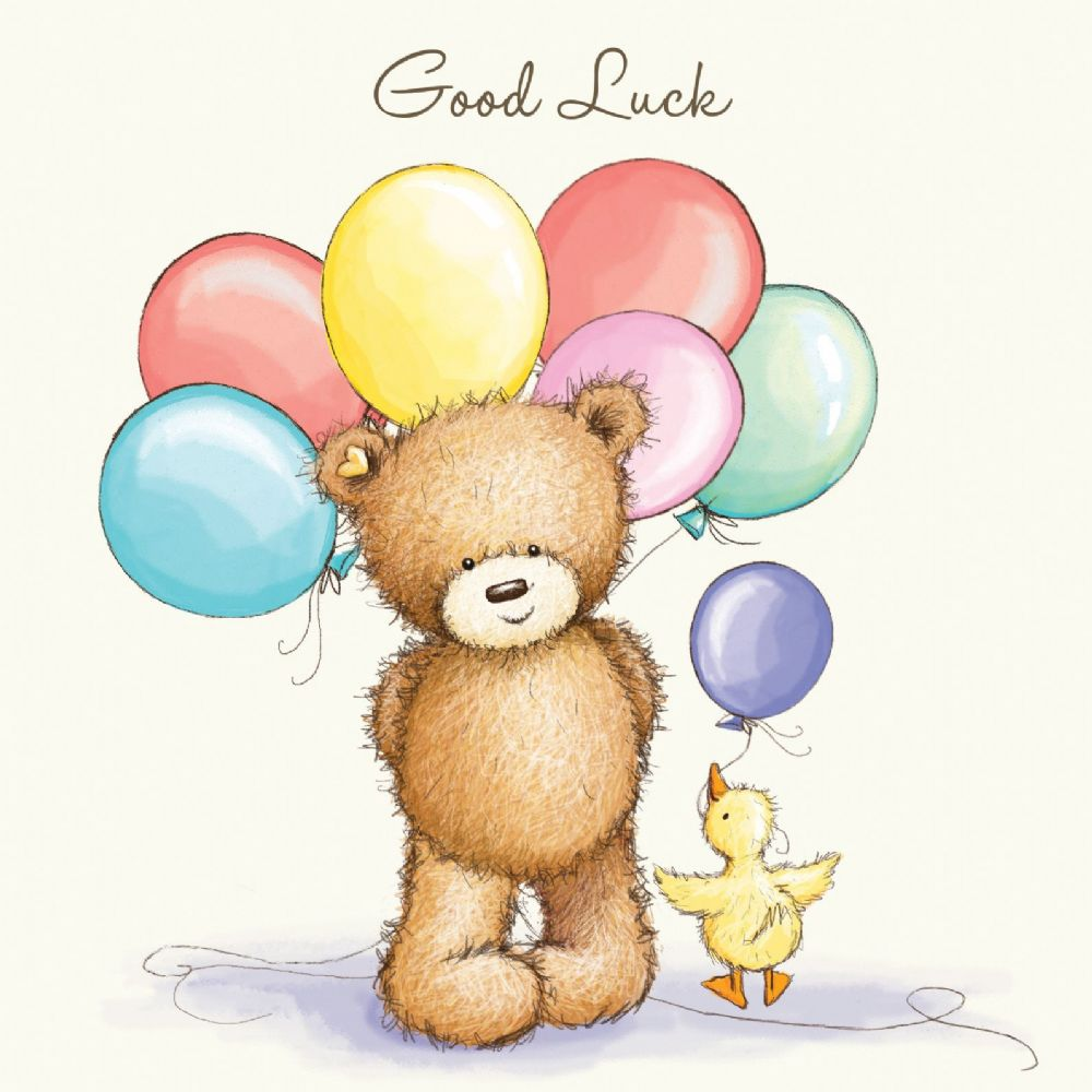 Good luck bear clipart black and white svg royalty free library Good Luck Bear With Balloons svg royalty free library
