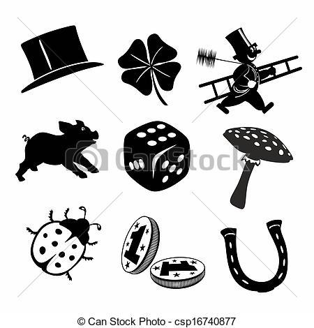 Good luck symbols clipart vector freeuse 74+ Lucky Symbols Clipart | ClipartLook vector freeuse