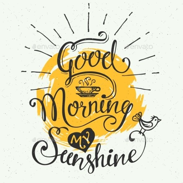 Good morning font clipart svg download Good morning my sunshine! Hand-drawn typographic design, hand ... svg download