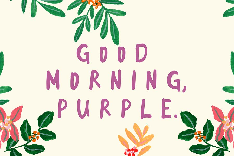 Good morning font clipart vector black and white stock Good Morning Purple - FondFont vector black and white stock