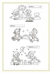 Good morning good afternoon good evening clipart png black and white stock in the morning worksheets - Buscar con Google | EXERCISES SCHOOL ... png black and white stock