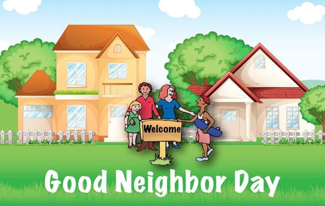 Good neighbor clipart picture royalty free download Be A Good Neighbor Every Day: Good Neighbor Day | Clipart | Good ... picture royalty free download