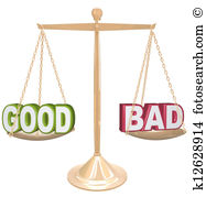 Good vs bad clipart image library Good vs bad Illustrations and Clipart. 78 good vs bad royalty free ... image library