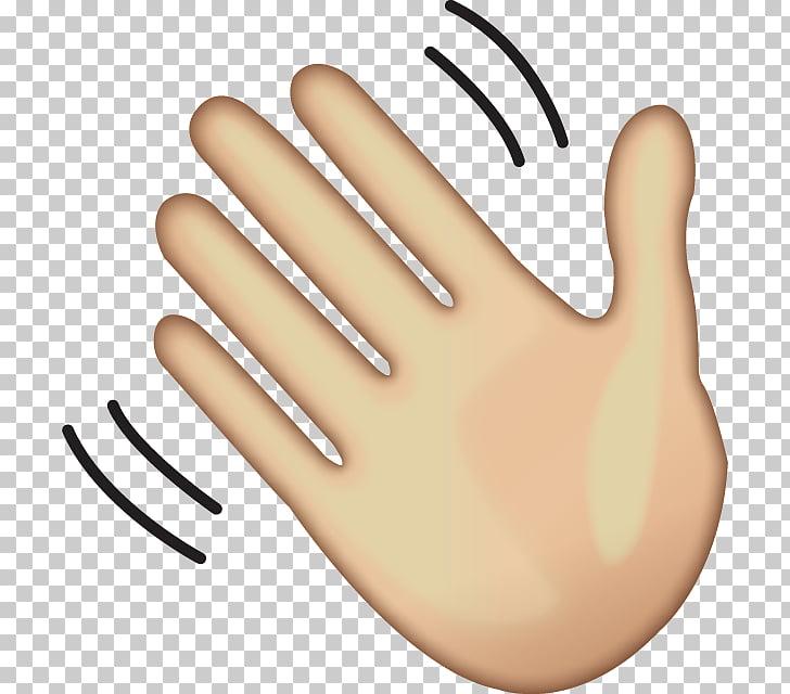 Goodbye hand clipart image free stock Wave Hand-waving Emoji , goodbye, illustration of hand PNG clipart ... image free stock