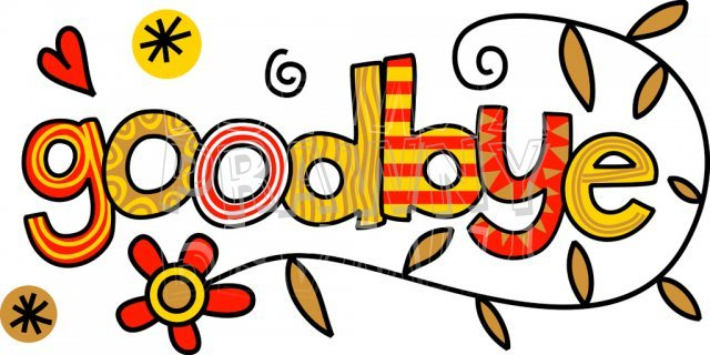 Goodbye images clipart graphic black and white stock Goodbye clipart 5 » Clipart Portal graphic black and white stock