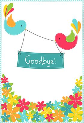Goodbye party for a dear friend clipart banner freeuse Goodbye from Your Colleagues - Good Luck Card (Free | Birthdays ... banner freeuse