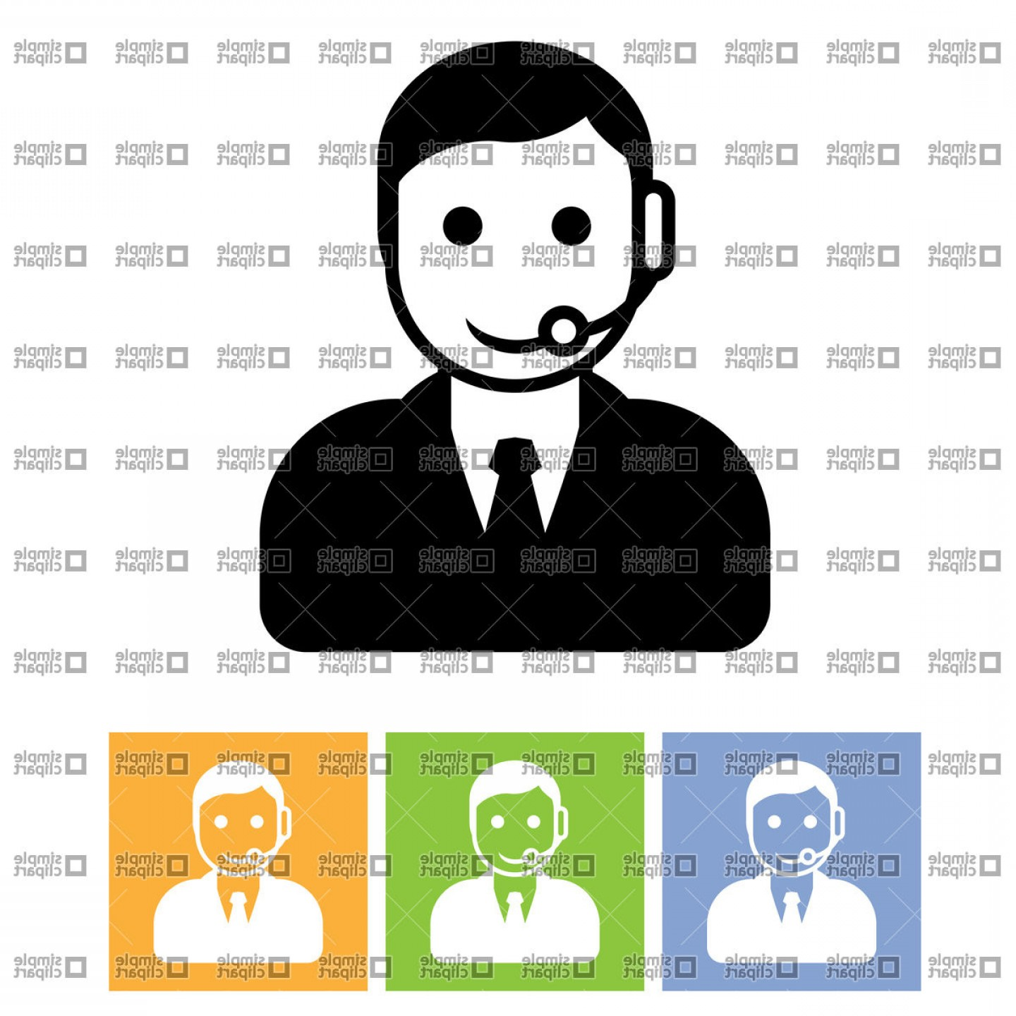 Google assistant icon clipart graphic royalty free stock Customer Support Service Call Center Assistant Icon Vector Clipart ... graphic royalty free stock