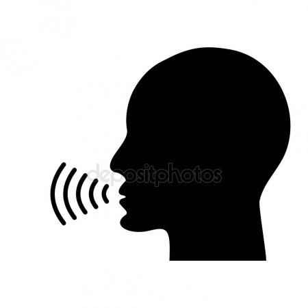 Google assistant icon clipart clip black and white library Sound, Graphics, Illustration, Microphone, Silhouette, Head, Hand ... clip black and white library