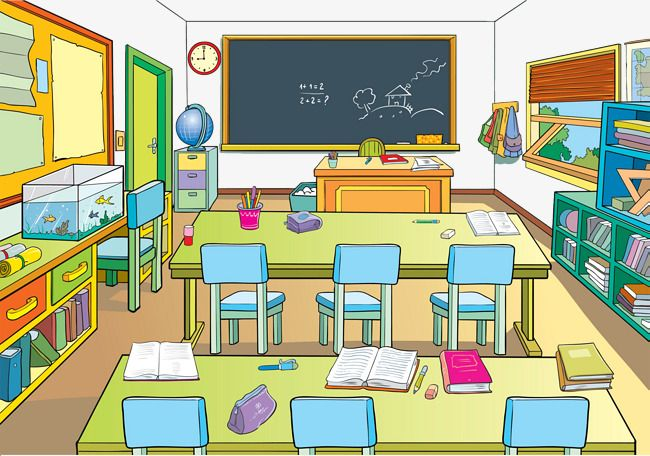 Google classroom clipart free download Classrooms Goldfish Bowl Bookshelf Desk Blackboard Podium ... free download