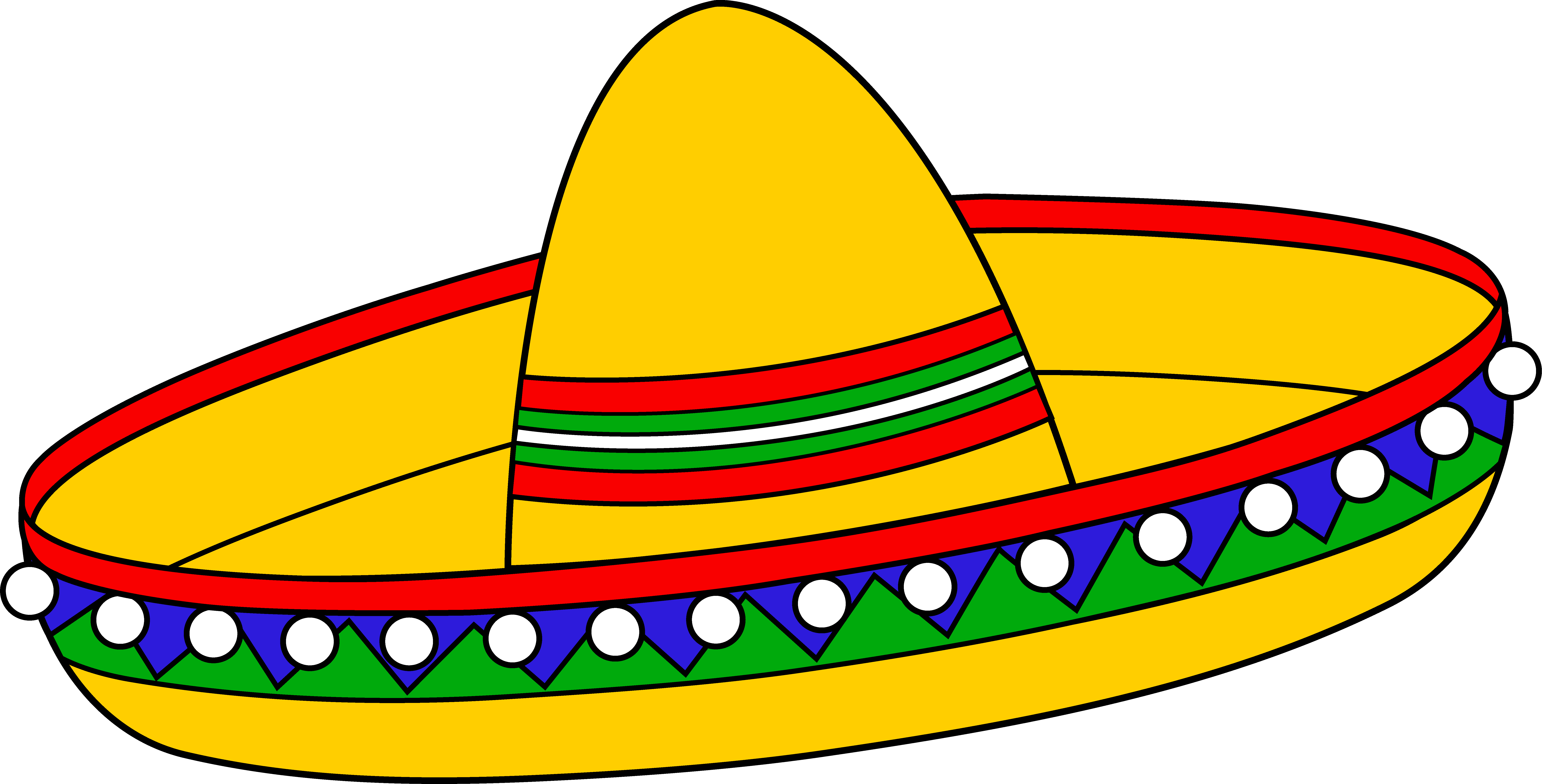 Mexican turkey clipart banner freeuse Colorful Mexican Sombrero Hat - Free Clip Art | Templates 2 ... banner freeuse