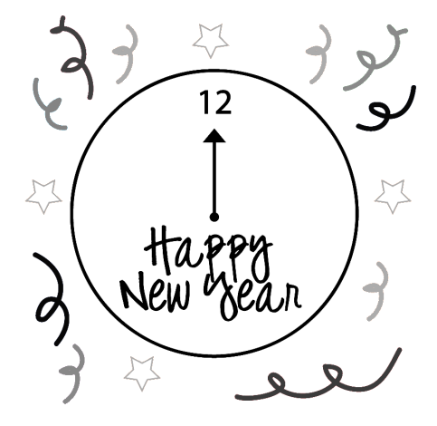 Google clipart happy new year clip transparent library Google Happy New Year Black And White Clipart Png Images clip transparent library