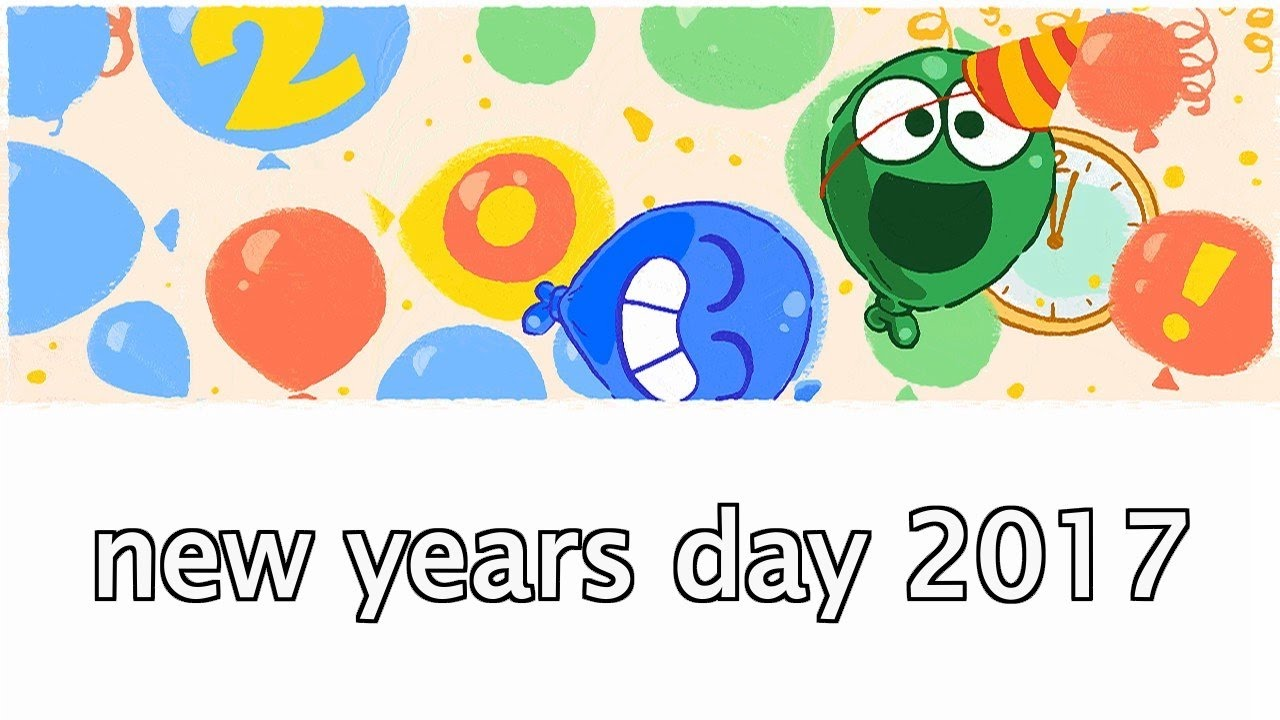 Google clipart happy new year jpg download New Year\'s Day 2017 - Happy New Year Google Doodle - Año nuevo 2017 jpg download