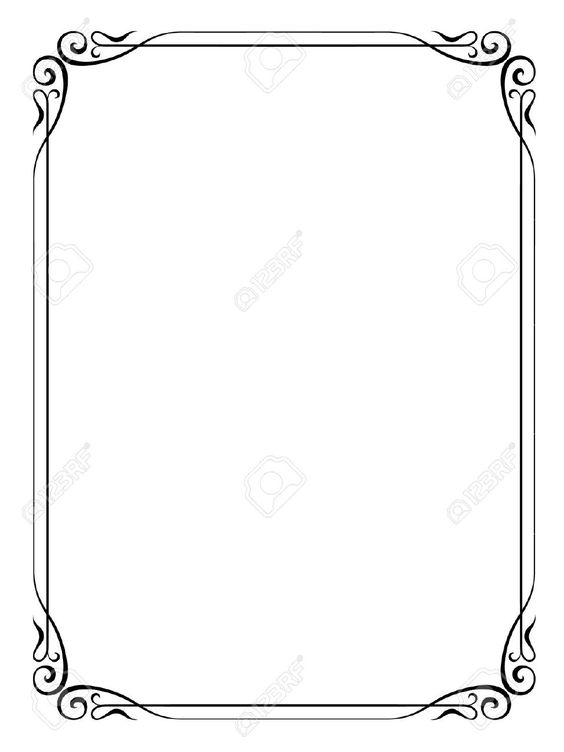 Google clipart search jpg library formal black and white borders for word - Google Search | Boarders ... jpg library