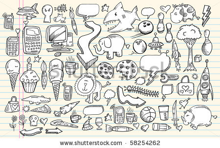 Google doodle clipart banner black and white 8+ Doodle Clipart | ClipartLook banner black and white