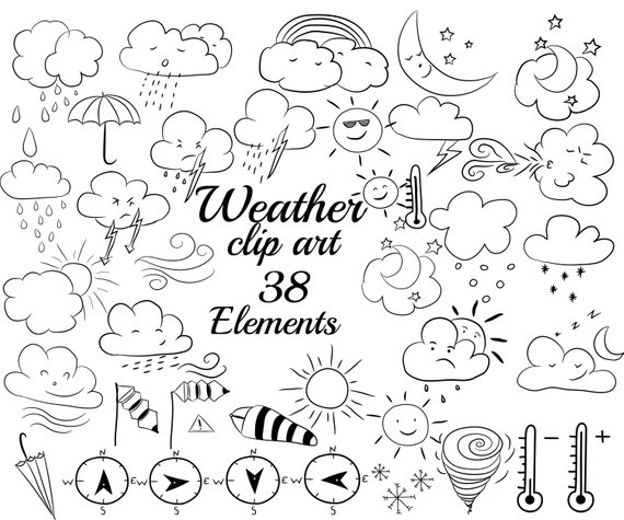 Google doodle clipart jpg royalty free library Weather doodle clipart: \
