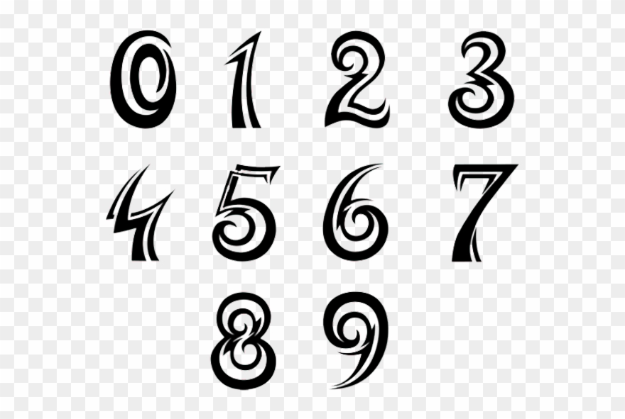 Google fonts and cliparts clipart library stock Numbers Font Tattoo Design - Number Fonts Clipart (#4117704 ... clipart library stock