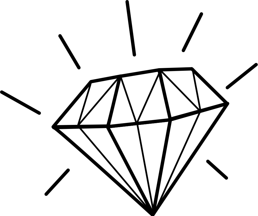 Crown and diamond clipart picture black and white download Diamond Clipart Black And White | Clipart Panda - Free Clipart ... picture black and white download