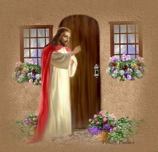 Google free clipart jesus knocking at the door png download Jesus knocking on the door drawing art wallpaper free download ... png download