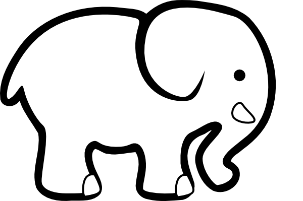 Google images elephant clipart graphic freeuse download Baby Elephant Clipart Outline | Clipart Panda - Free Clipart Images graphic freeuse download