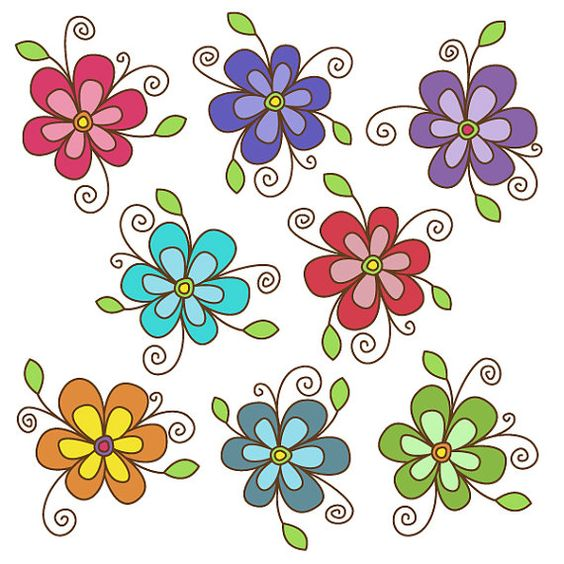 Google images flower clipart clipart free Flower Clipart set - Great for Scrapbooking, Cardmaking and Paper ... clipart free