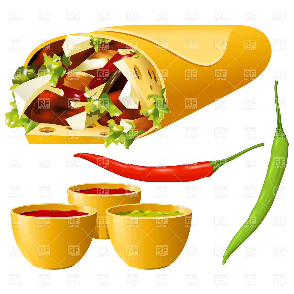 Google images food clipart clipart freeuse library Mexican Food Restaurant Clipart - Clipart Kid clipart freeuse library
