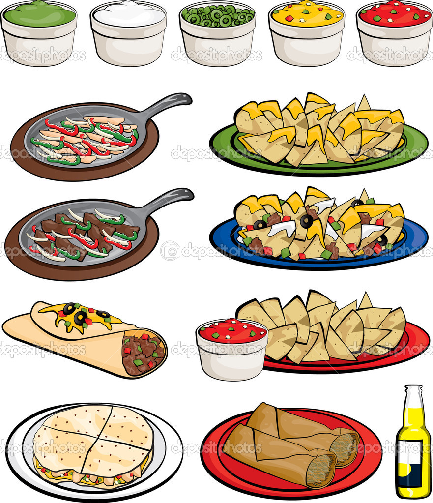 Google images food clipart graphic free stock Mexican Food Restaurant Clipart - Clipart Kid graphic free stock