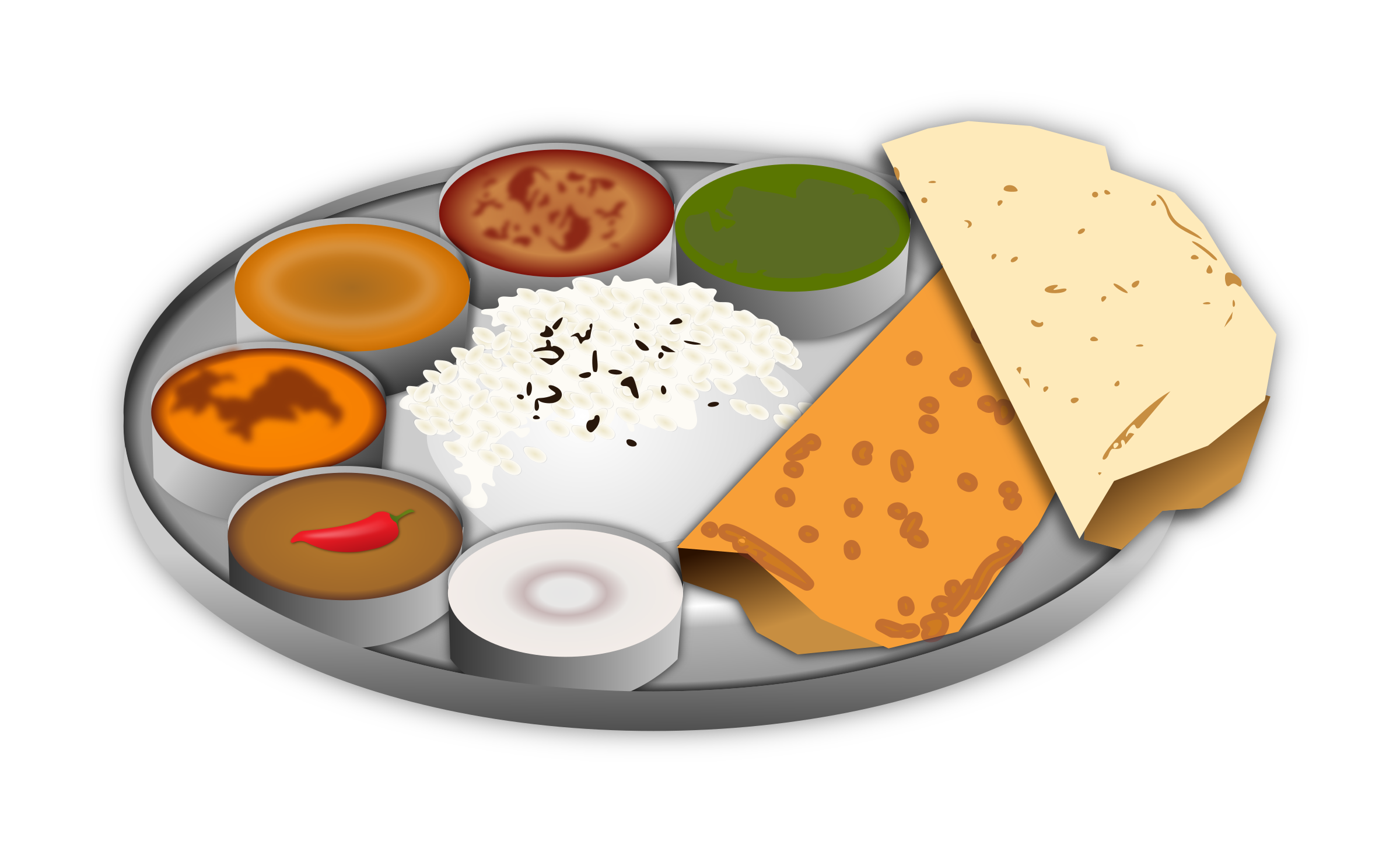Free clipart school lunch picture black and white library 28+ Collection of Plate Of Indian Food Clipart | High quality, free ... picture black and white library