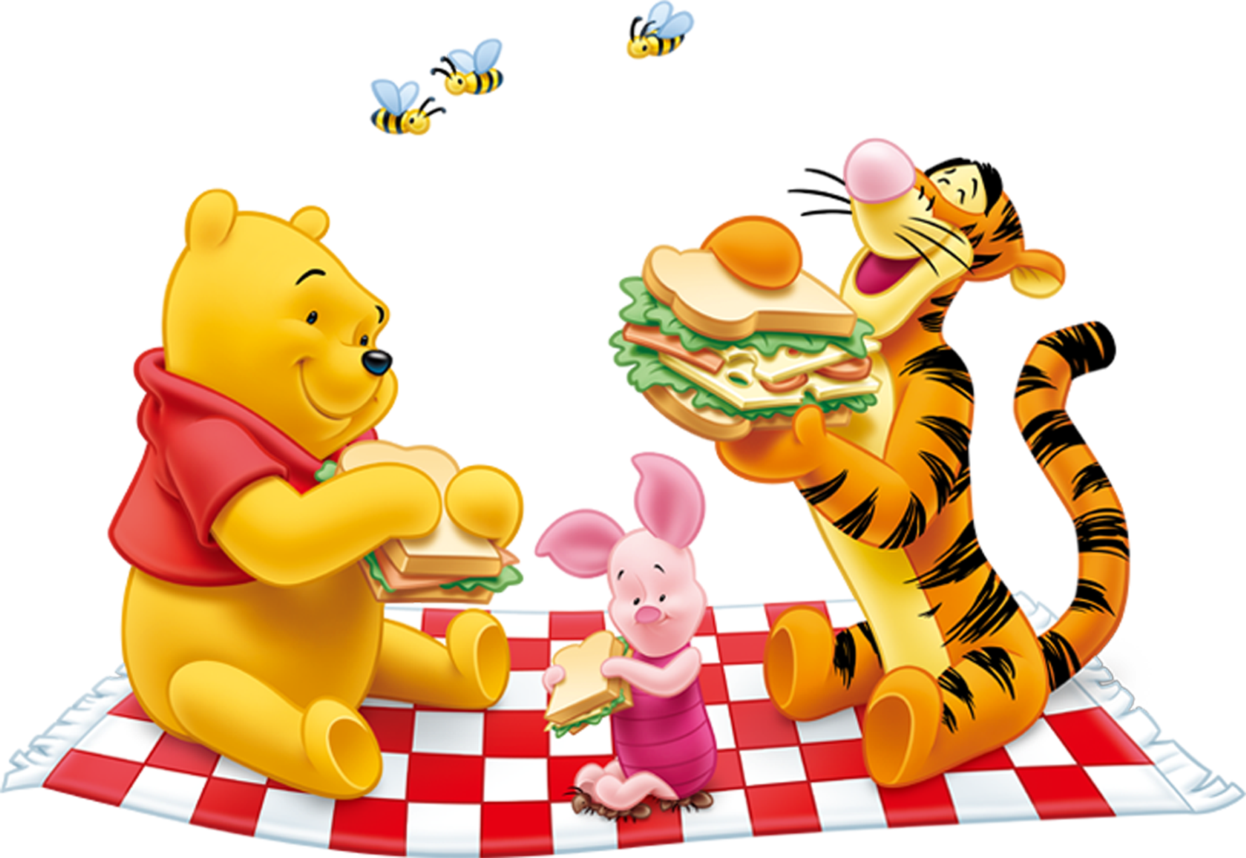 Free clipart school lunch banner freeuse stock Winnie the Pooh and Tiger PNG Free Clipart | Gallery Yopriceville ... banner freeuse stock